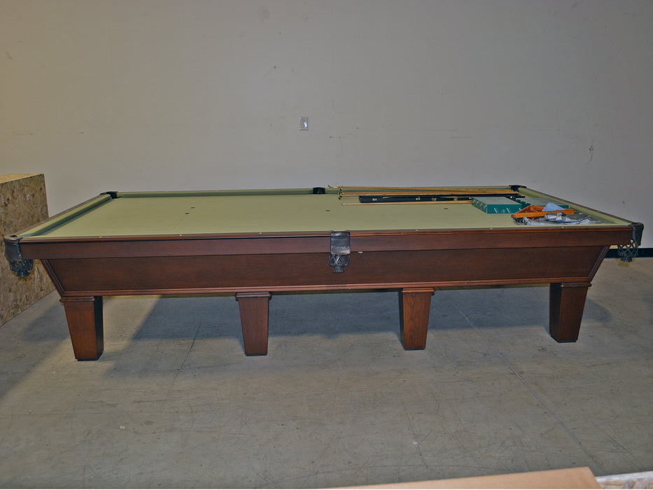 olhausen classic 12' snooker table traditional mahogany side