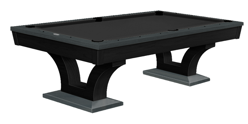 Alexandria Pool Table Black Lacquer Smoke Grey two tone finish