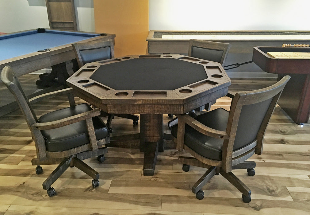 Rustic Poker Table Set showroom