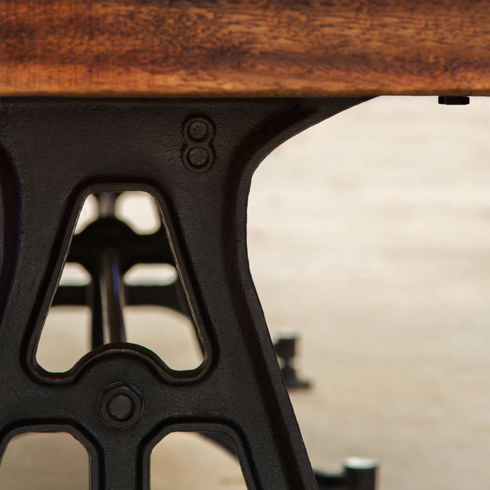 Restoration Style Iron and Wood Shuffleboard Table Leg