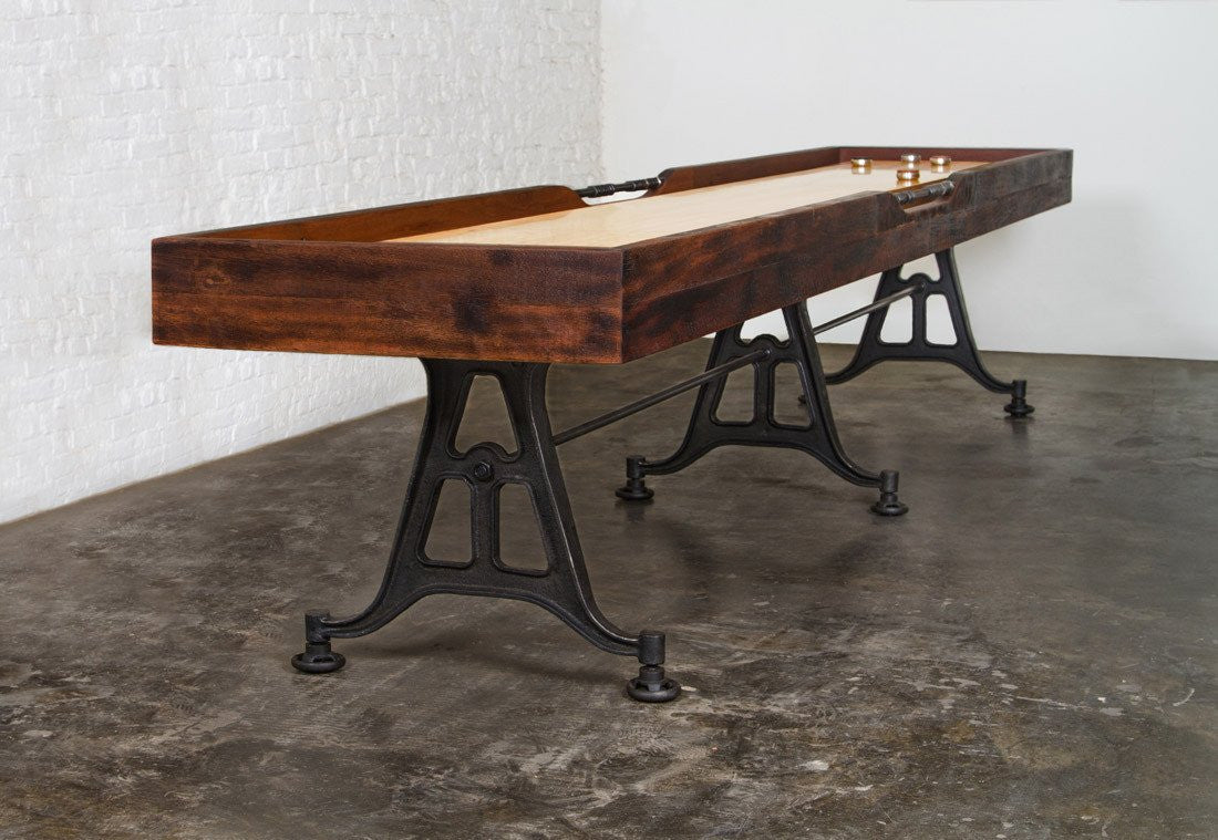 Restoration Style Iron And Wood Shuffleboard Table 12u0027 ...