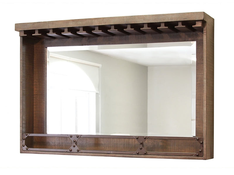 reclamation style back bar mirror