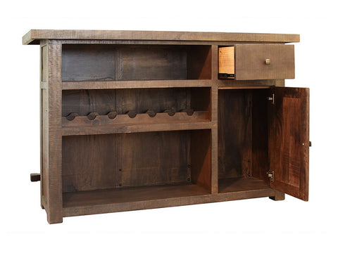reclamation style home bar back