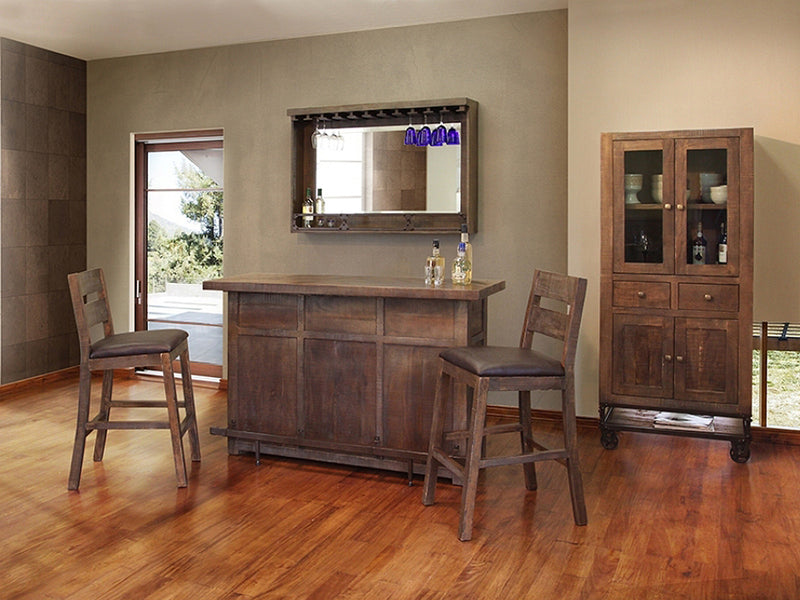 reclamation style home bar