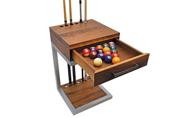 canada billiard revolution cue rack walnut open