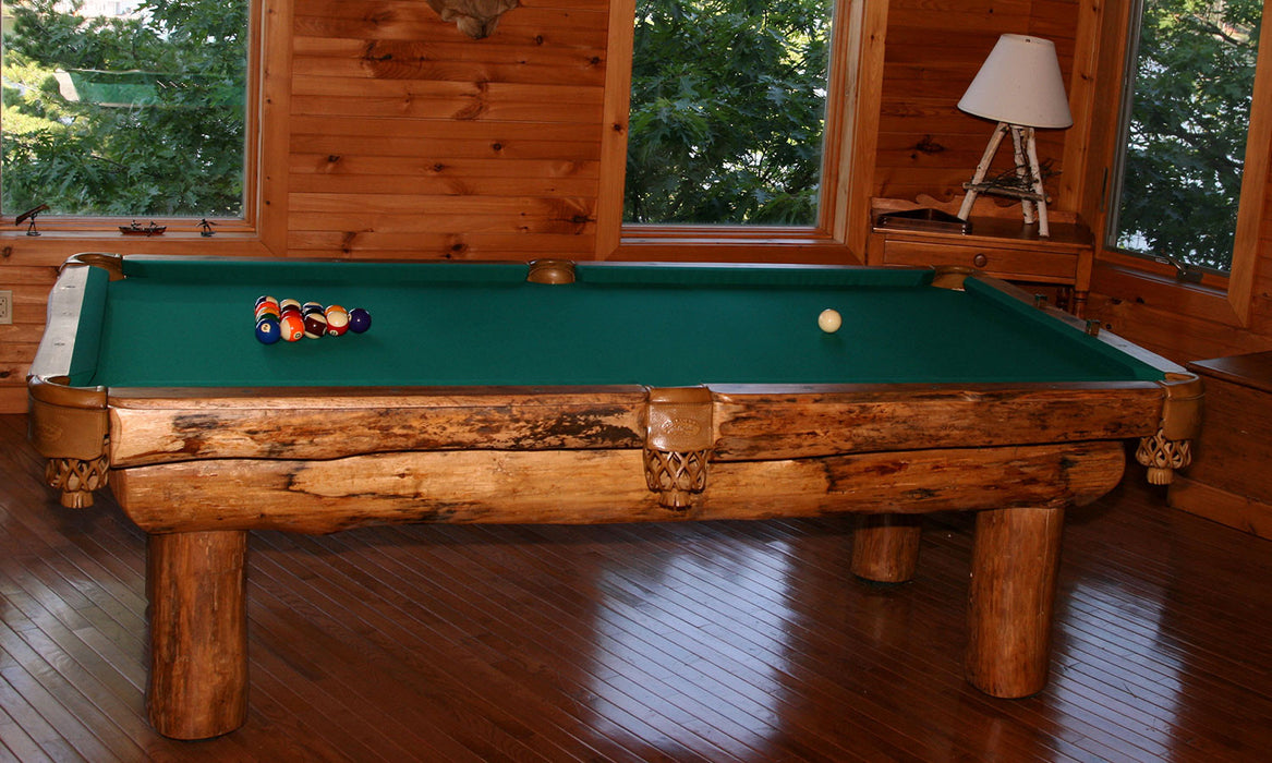 Olhausen Ponderosa Pool Table log cabin
