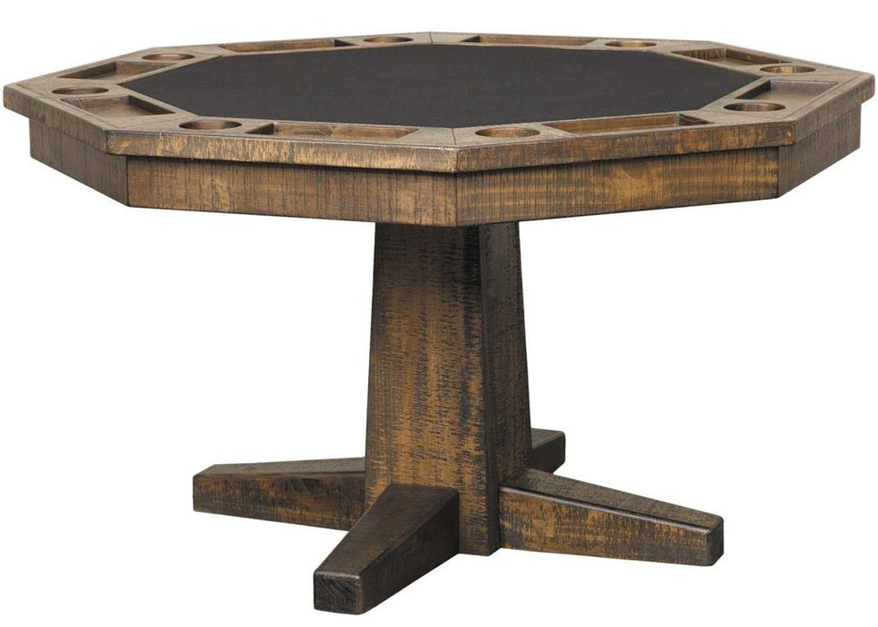 Plank and Hide Rustic Poker Table