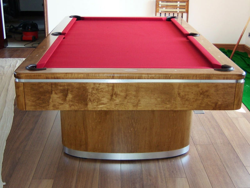 Sahara Pool Table Aluminum and walnut