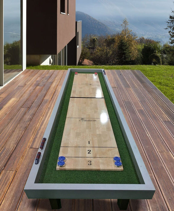 Outdoor Shuffleboard Table end