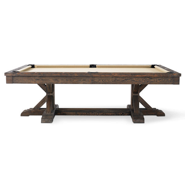 Plank and Hide Thomas Pool Table side