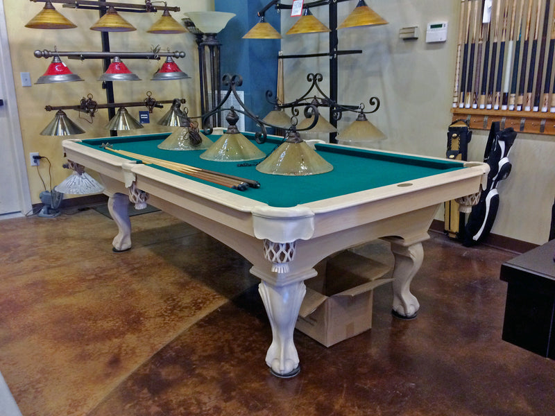 olhausen blackhawk pool table white wash finish