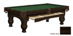 venetian pool table heritage cherry finish with drawer