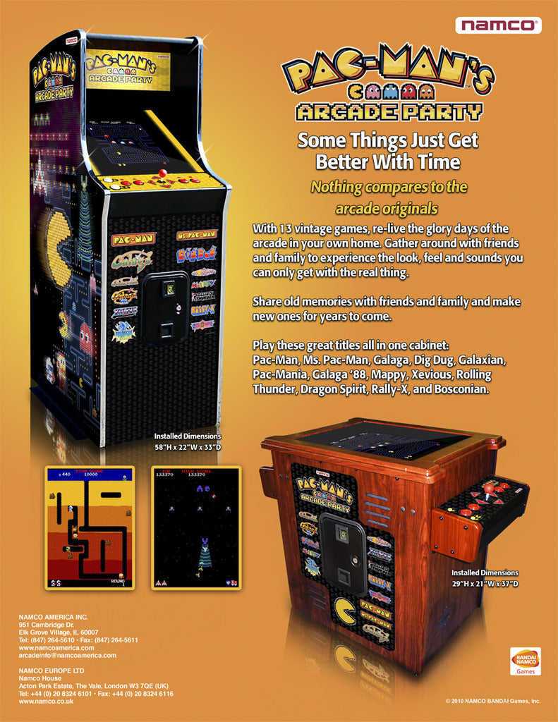 Pac-Man's Arcade Party Home Cocktail Table and Arcade Game