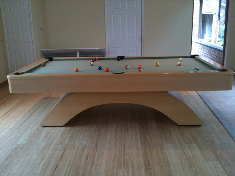 olhausen waterfall pool table natural maple