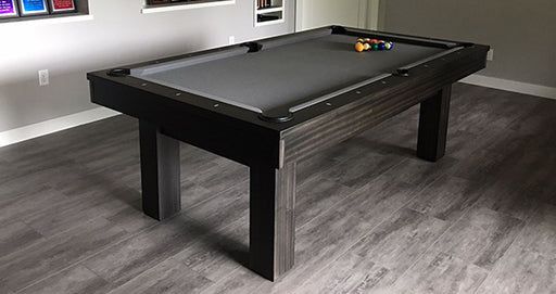 Olhausen West End Pool Tabel Matte Charcoal Finish