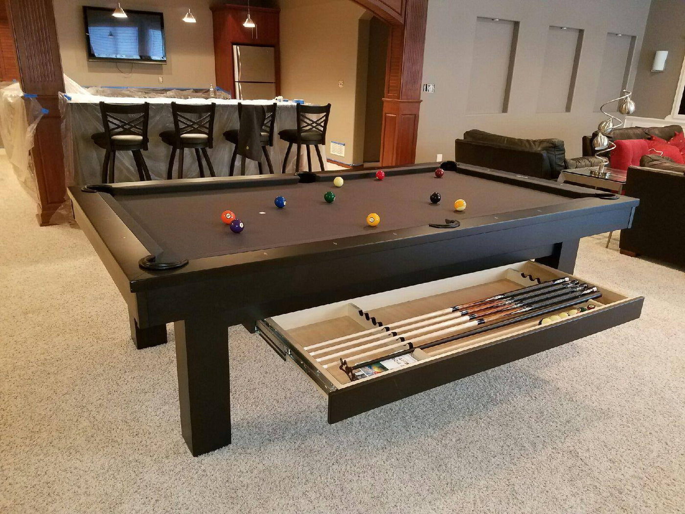 ... Olhausen West End Pool Table Black With Drawer ...