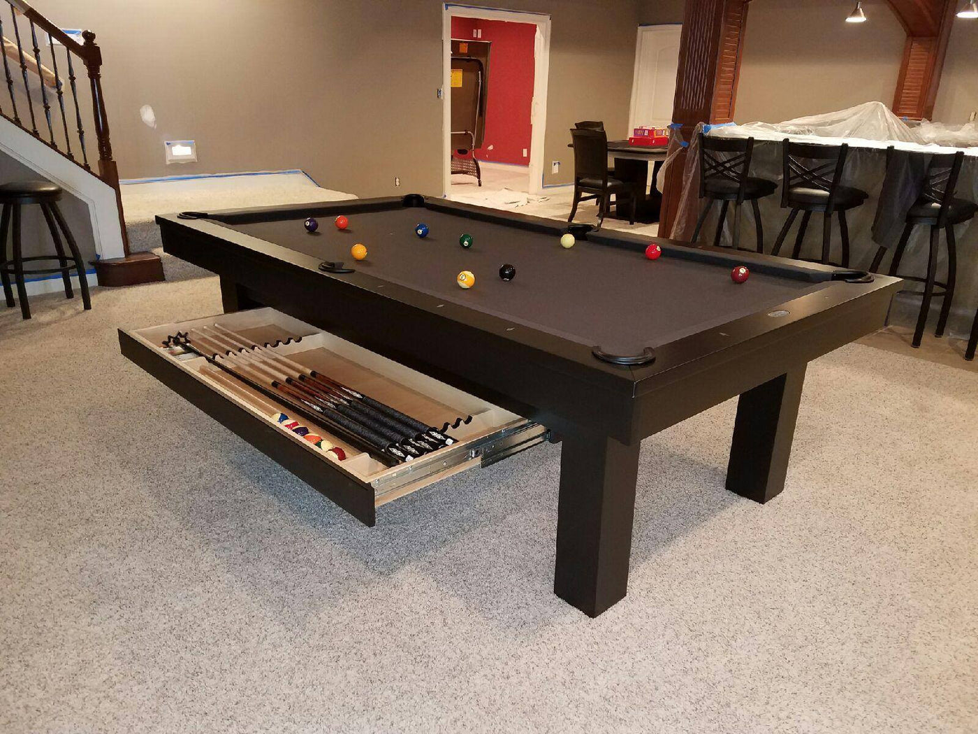 ... Olhausen West End Pool Table Black Lacquer ...
