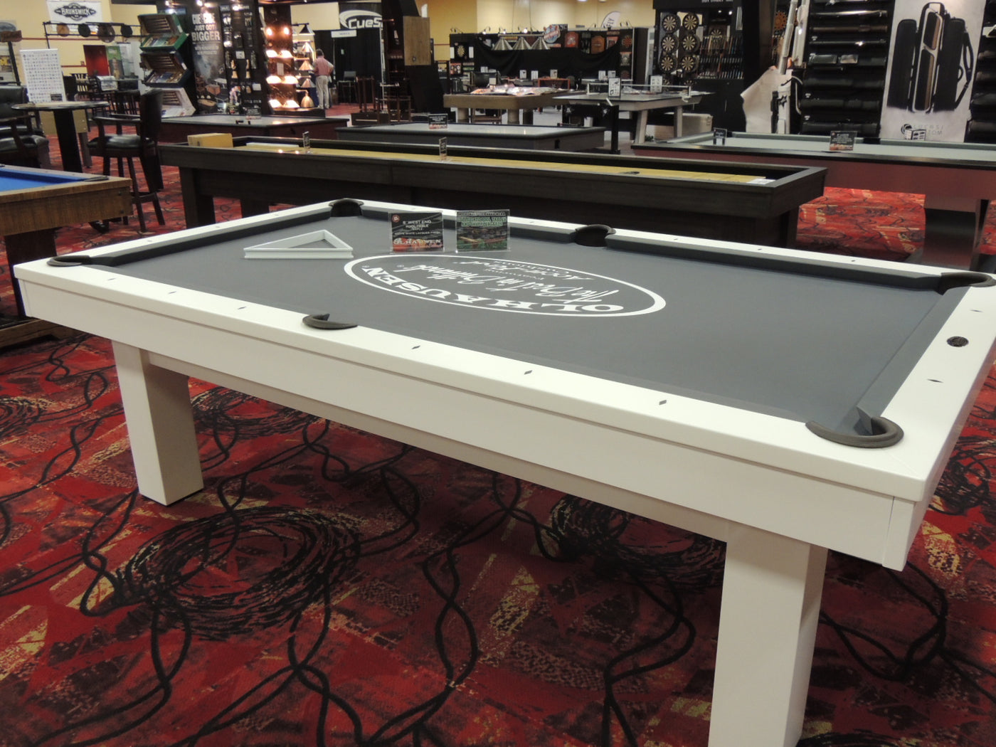 ... West End Pool Table Matte White Lacquer Finish ...