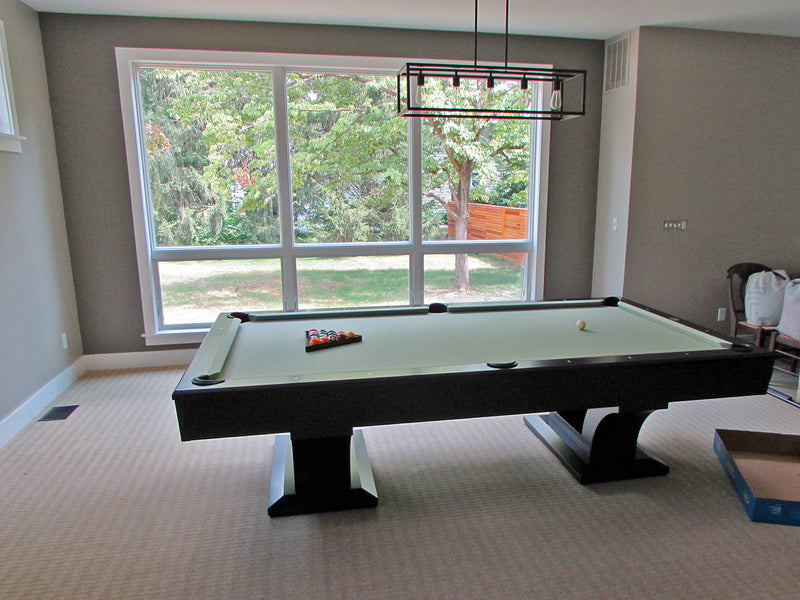 alexandria pool table satin black lacquer on maple