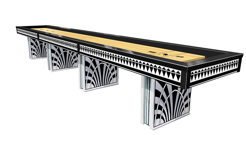 Olhausen Art Deco Shuffleboard Table stock