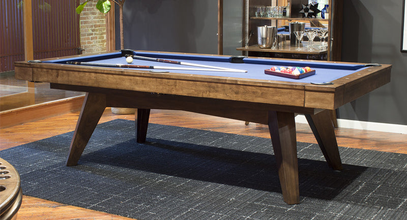 California House Austin Pool Table Distressed and Glazed Heritage finish room