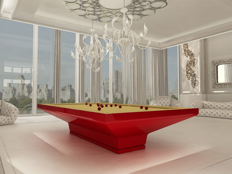 MGM Biliardi B_ig Pool Table red lacquer