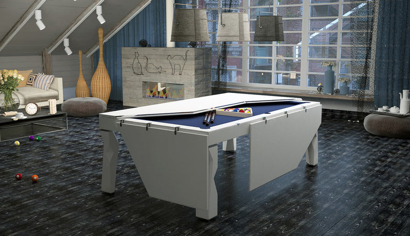 Shanghai Dining Pool Table top half folded