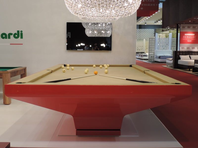 MBM Biliardi B_ig Pool Table Red end