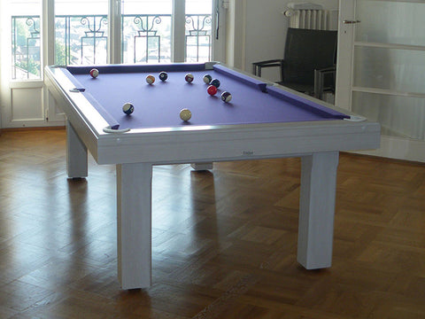 billard toulet bubbly pool table white