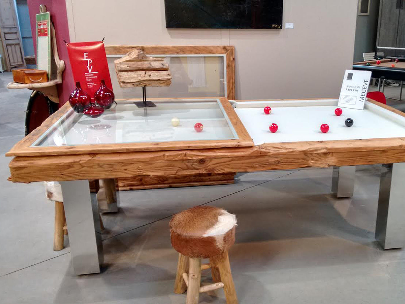 ... Billard Toulet Megeve Dining Pool Table Top ...