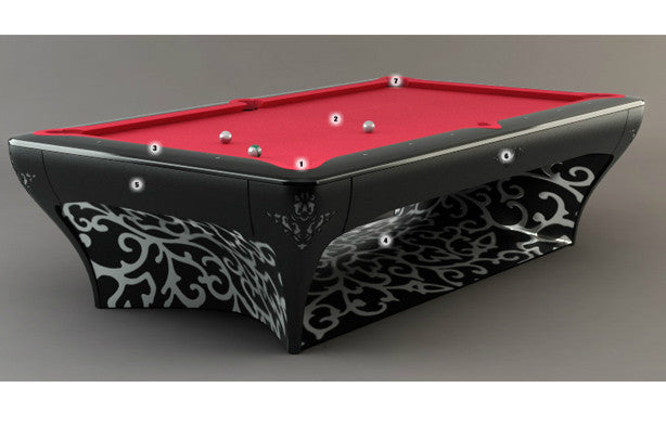 billard toulet luxury pool table black leaf