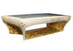 billard toulet luxury pool table gold leaf