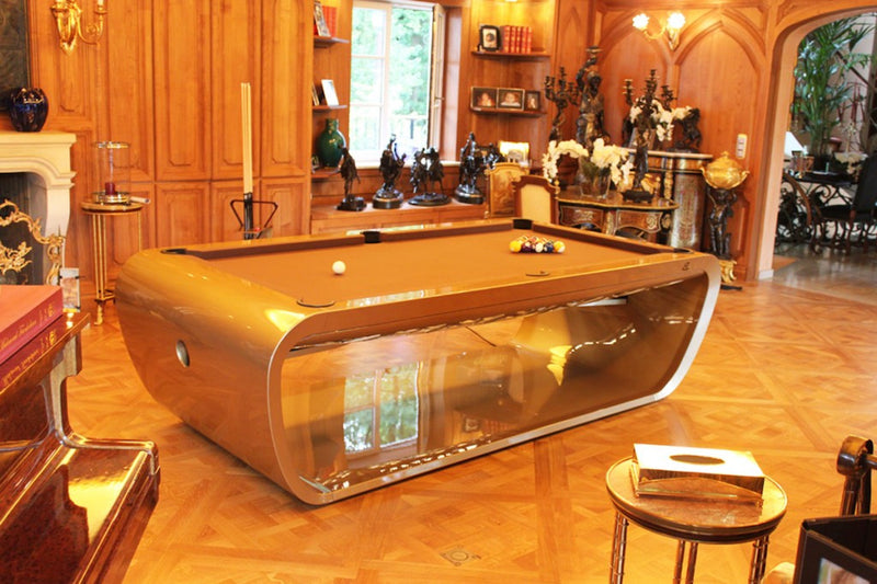 black light pool table gold