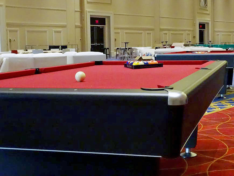 black diamond pool table rail