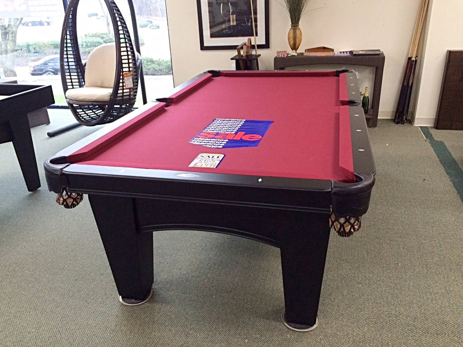 brunswick bayfield pool tabel black showroom end