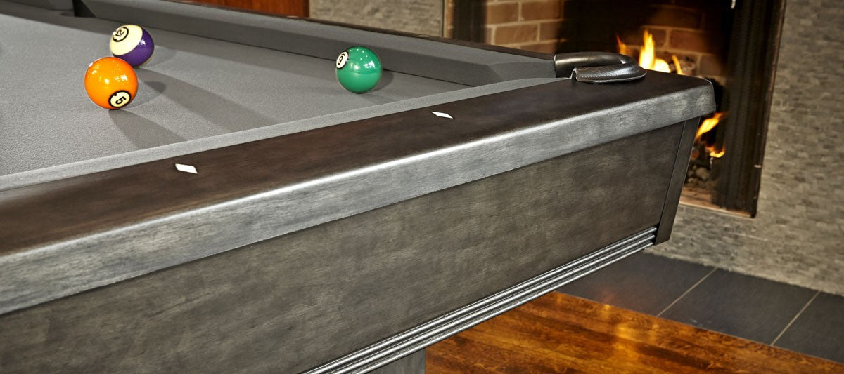 Brunswick Bridgeport Pool Table Graphite corner
