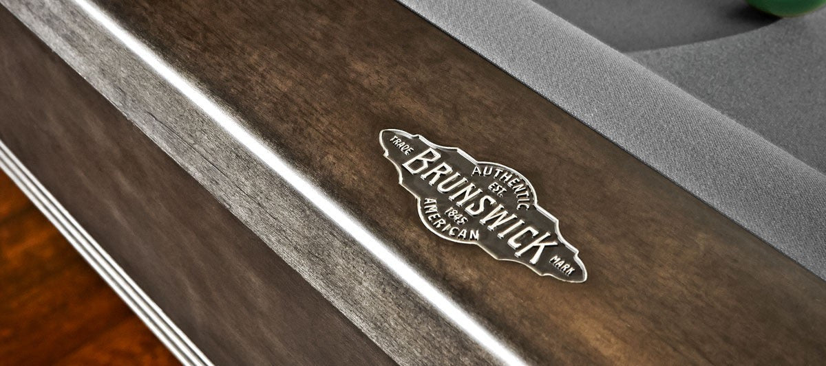 Brunswick Bridgeport Pool Table Graphite logo