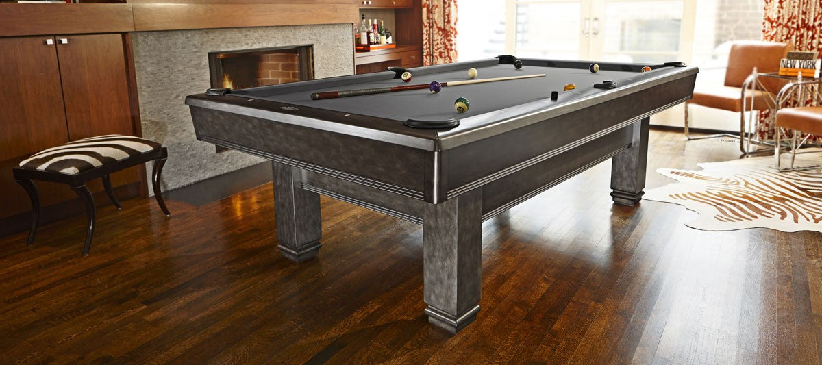 Brunswick Bridgeport Pool Table Graphite room