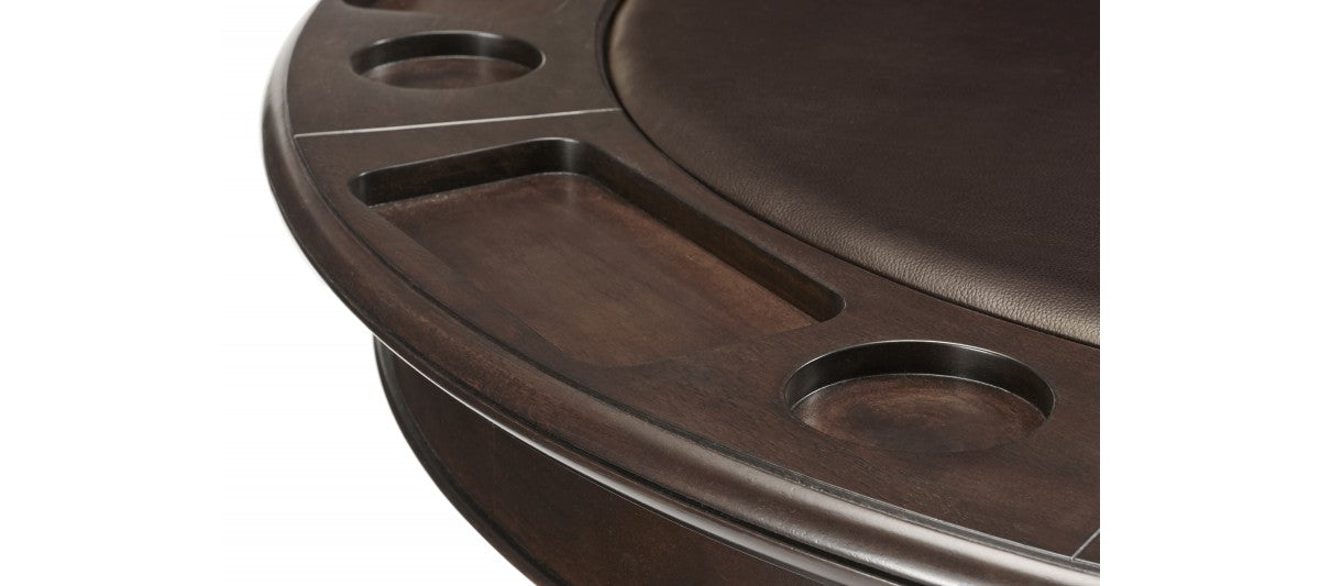 Brunswick Centennial Game Table espresso edge detail
