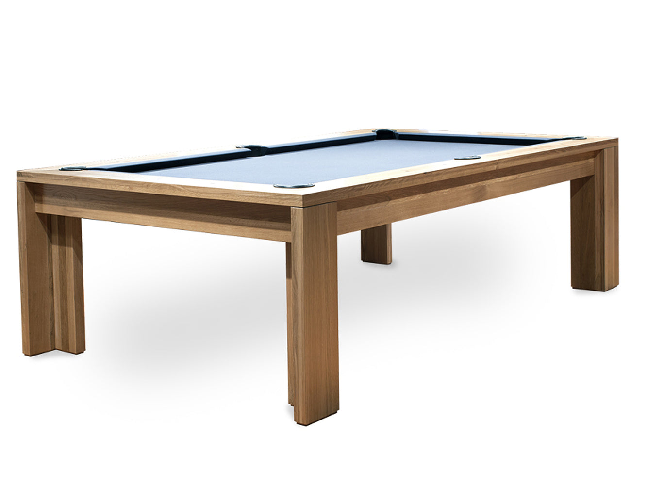 California House District Pool Table Rustic White Oak
