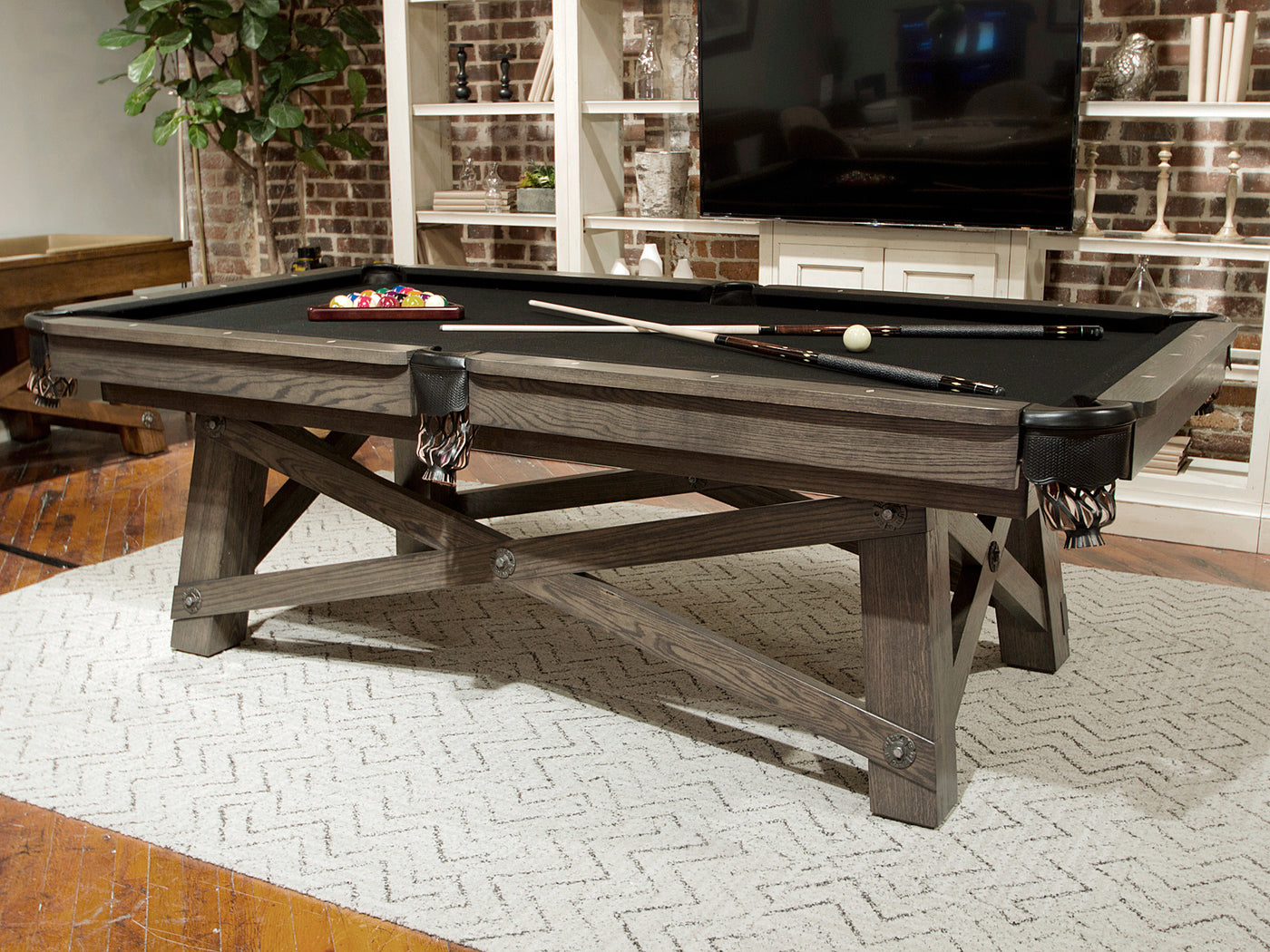 California House Loft Pool Table Room ...