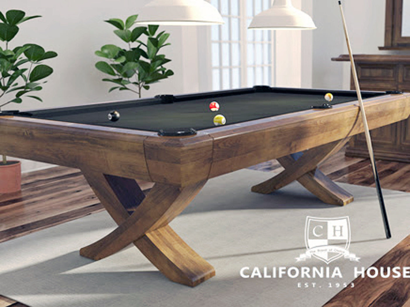 ... California House Newport Pool Table Stock