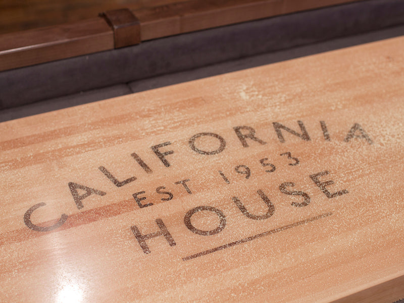 California House City Shuffleboard Table playfield