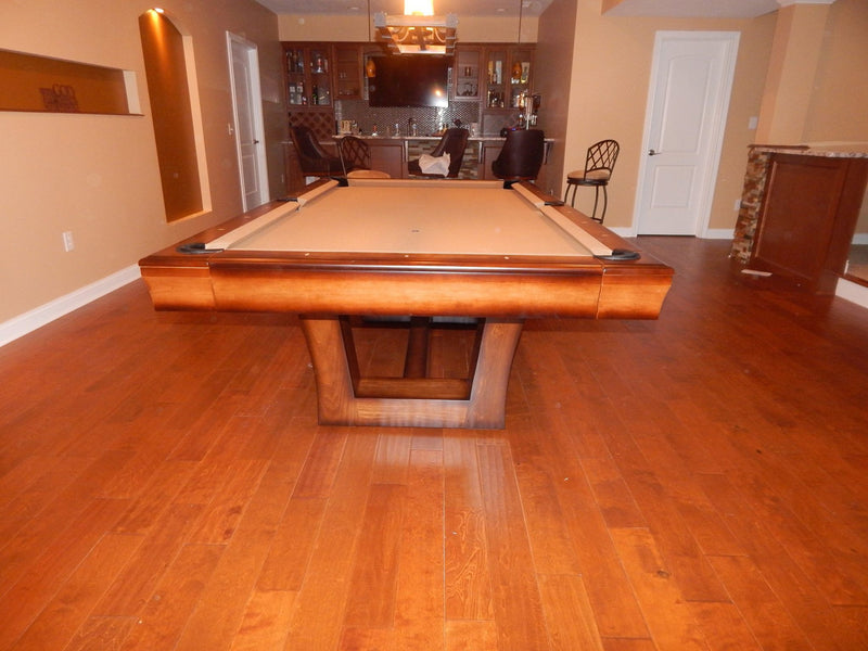 california house city pool table hi low finish end