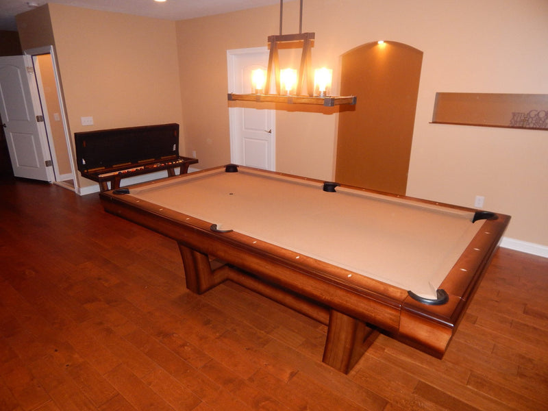 california house city pool table high low finish top