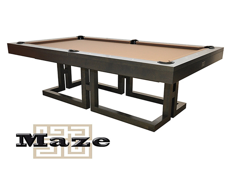 canada billiard maze pool table stock