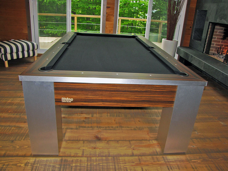 canada billiard rhino pool table steel end