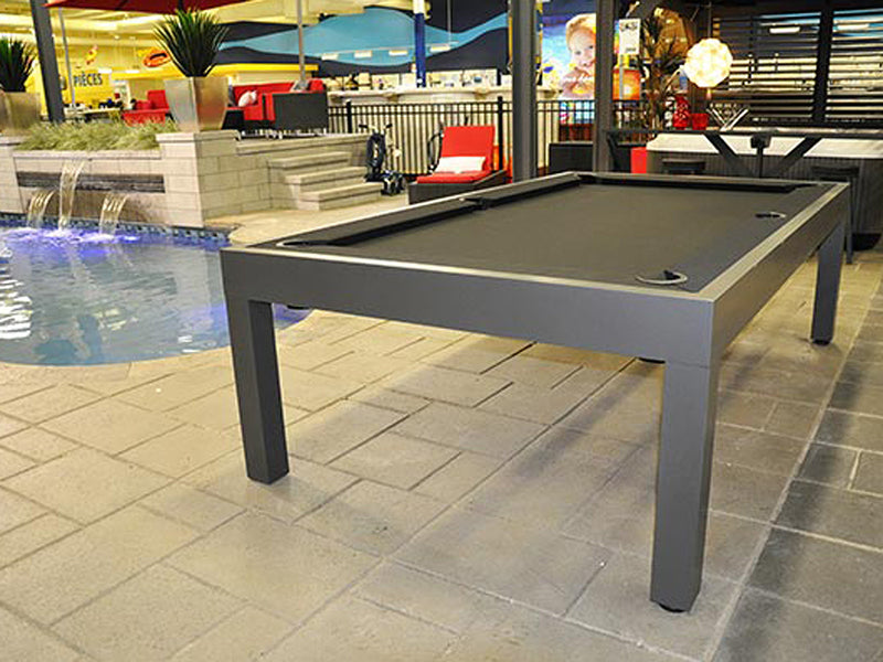 storm outdoor pool table silver gloss