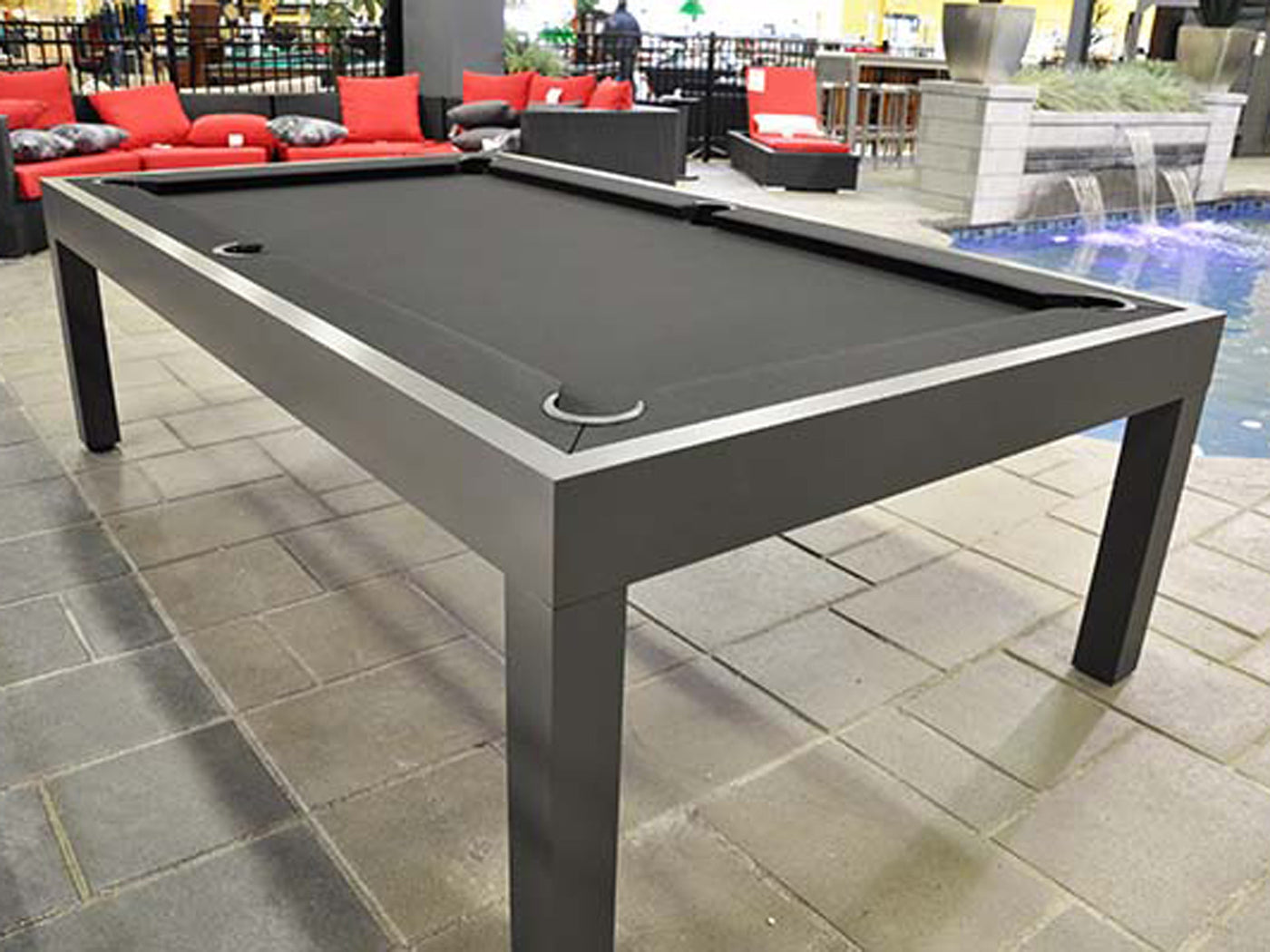 ... Storm Outdoor Pool Table Silver Gloss2 ...