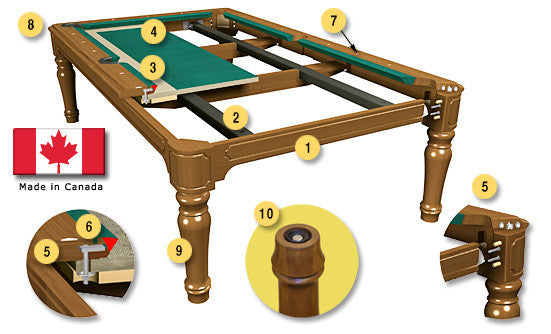 La Condo Colonial Dining Pool Table construction